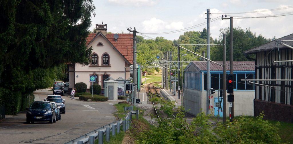 Ittersbach Bahnhof Richtung Karlsruhe