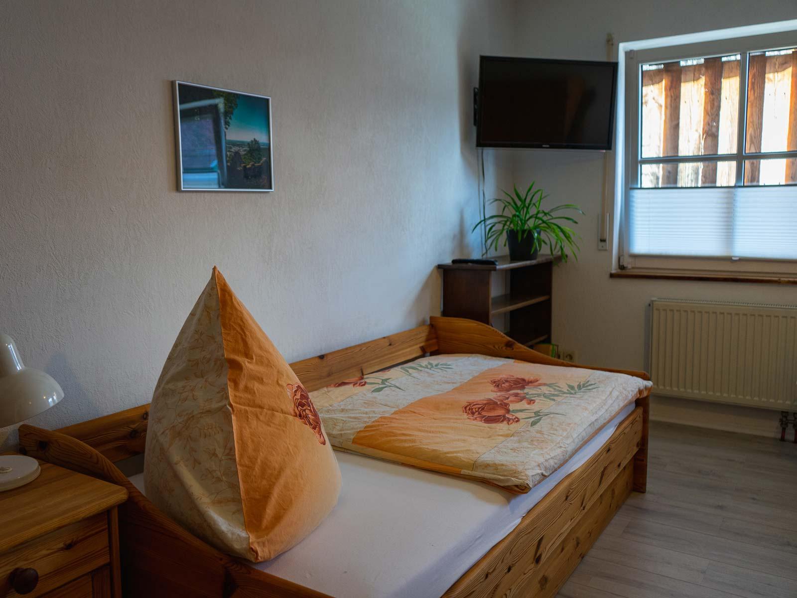 Einzelbett und TV